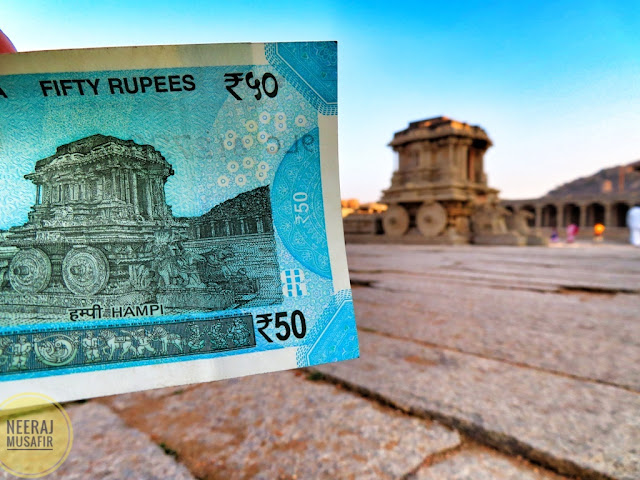 Hampi Temple on 50 Rs Note