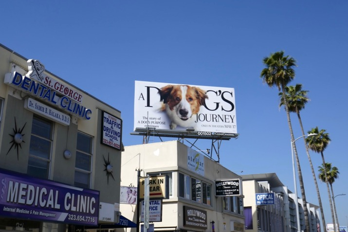 A Dogs Journey film billboard