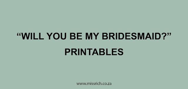 bridesmaid proposal card printables