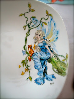 PLATE, FAIRY, HAND PAINTINGS, table decorations ideas
