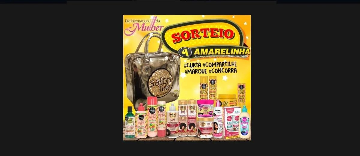 Promoção Amarelinha Supermercados 2020 Concorra Kit Salon Line