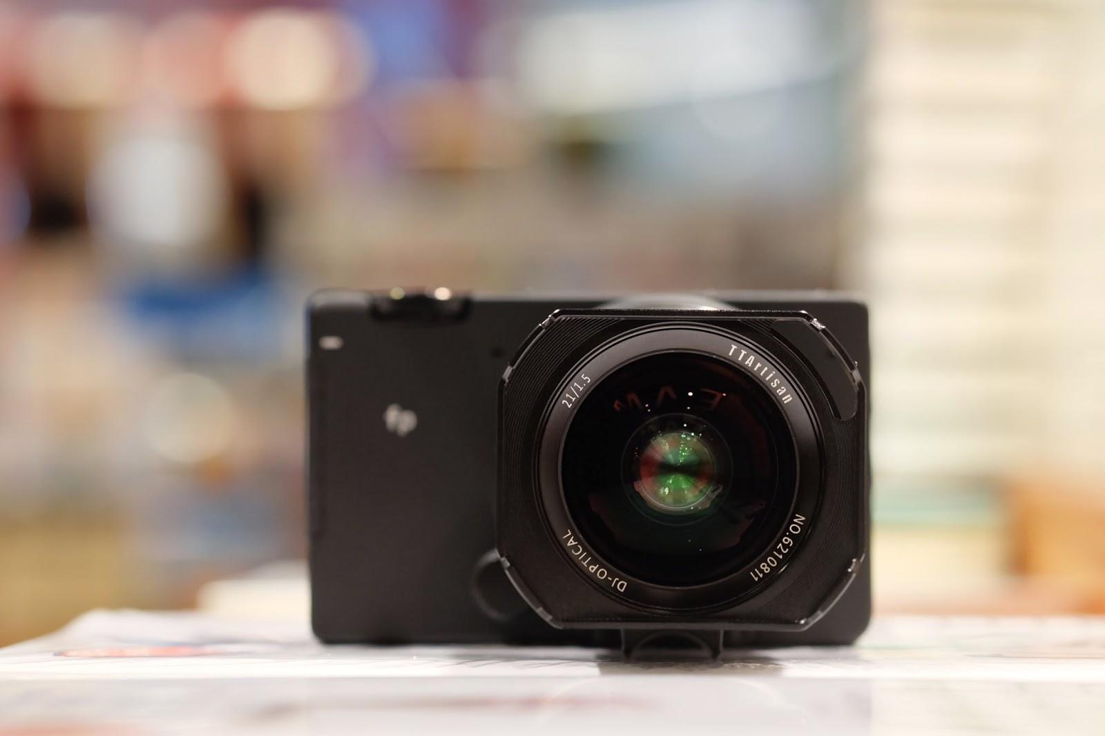 Объектив TTArtisan 21mm f/1.5 с камерой Sigma fp