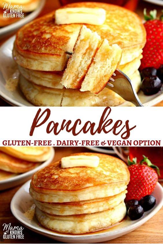 Easy Gluten-Free Pancakes {Dairy-Free & Vegan Option}