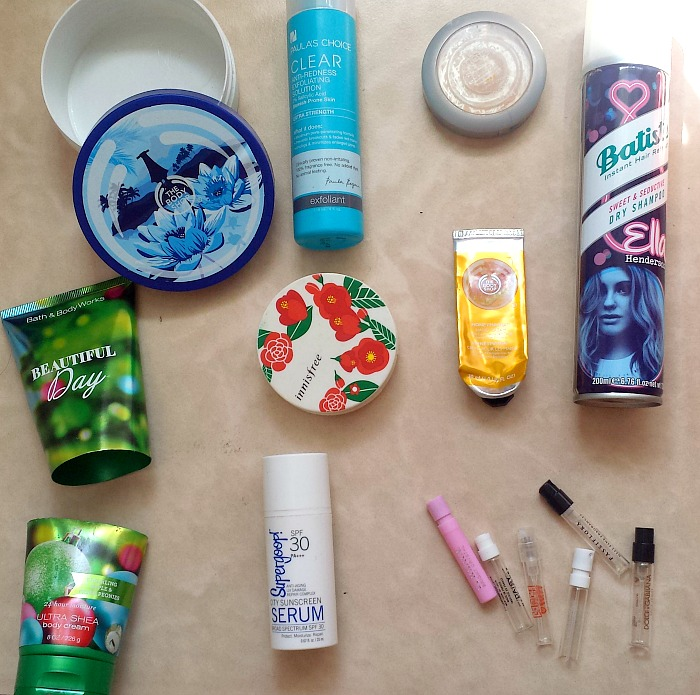 December and January 2016 Empties and review