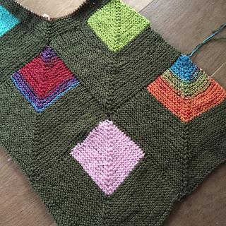 Groene deken breien
