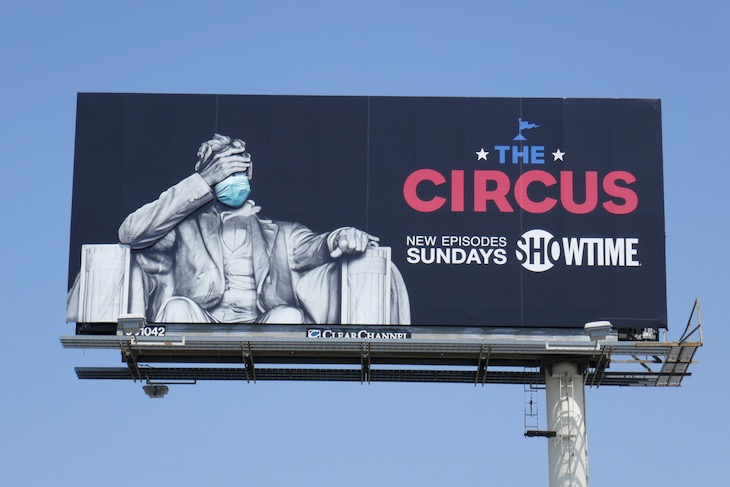 Circus Masked President Lincoln billboard