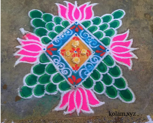 simple kolam pictures