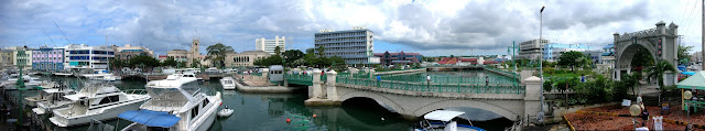 Panarama of downtown Bridgetown, Barbados