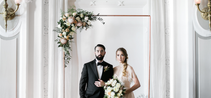 Elevated Romance Featuring Art Deco Inspired Details