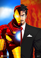 Commande d'une illustration de Iron Man pour une gagnante d'un concours sur le blog de Mamantestavis
