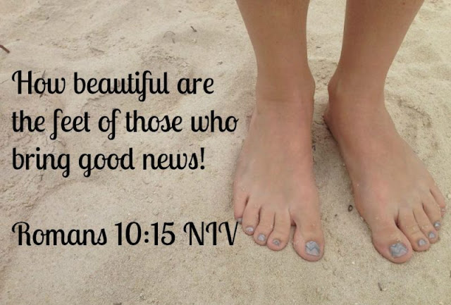 """How can they preach unless they are sent? As it is written, """"How beautiful are the feet of those who bring good news!"""""""