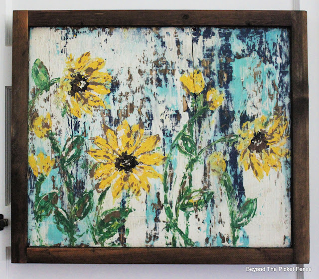 Rustic Sunflower Painting