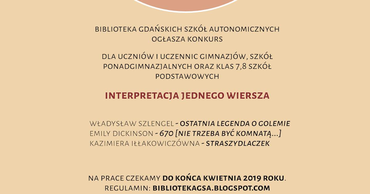 Biblioteka Gdańskich Szkół Autonomicznych Konkurs