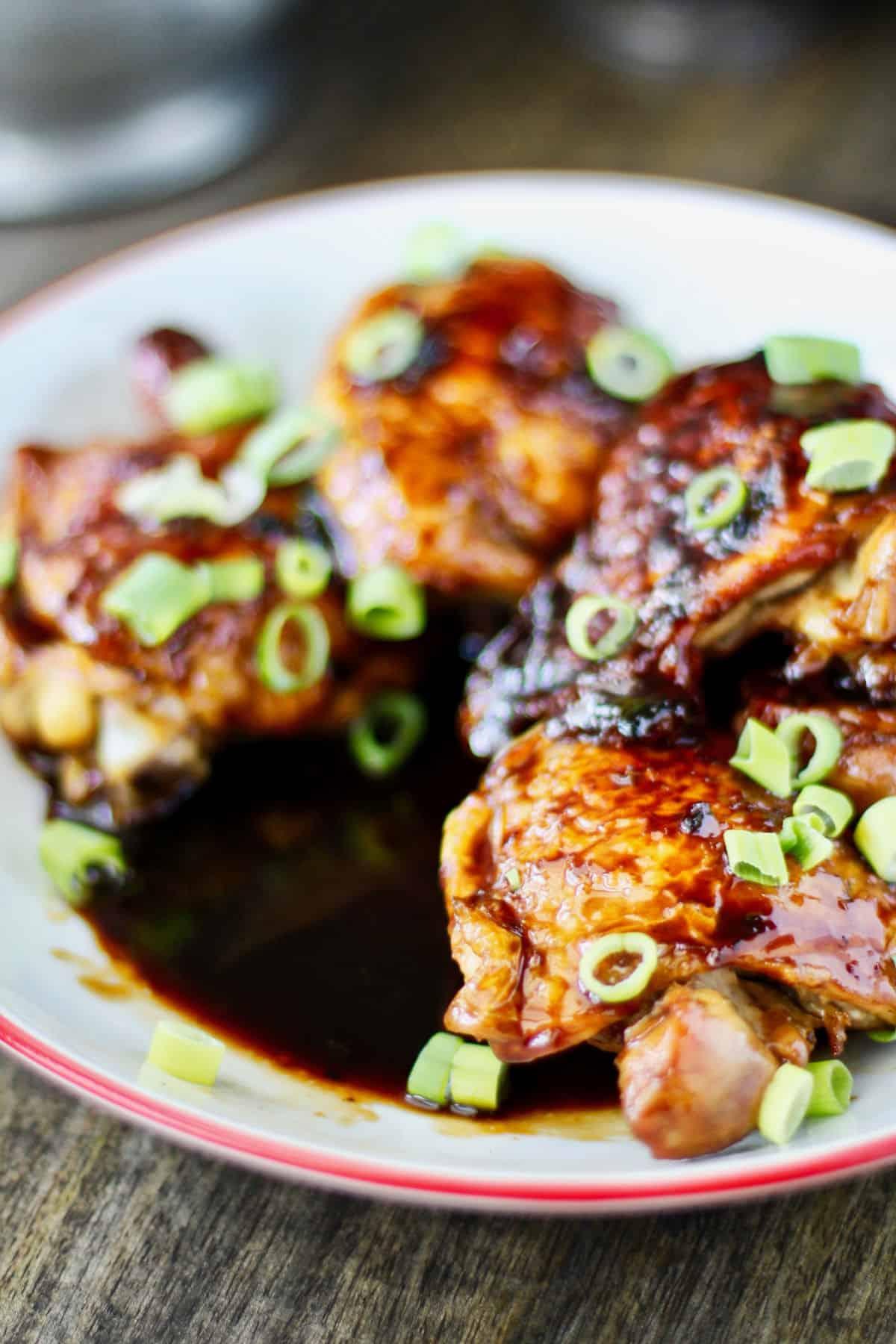 Garlic and Ginger Caramel Chicken Thighs sauce.