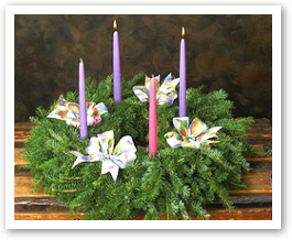 little house on the corner deconstructed diy advent wreath. Black Bedroom Furniture Sets. Home Design Ideas