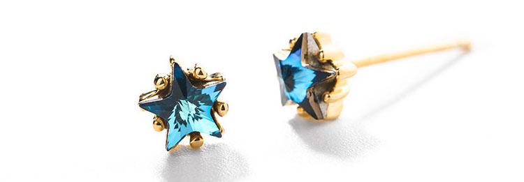 星夢貓頭鷹水晶鋯石耳環