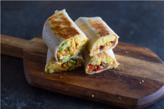 Cheesy & Brunch Egg burrito Wraps