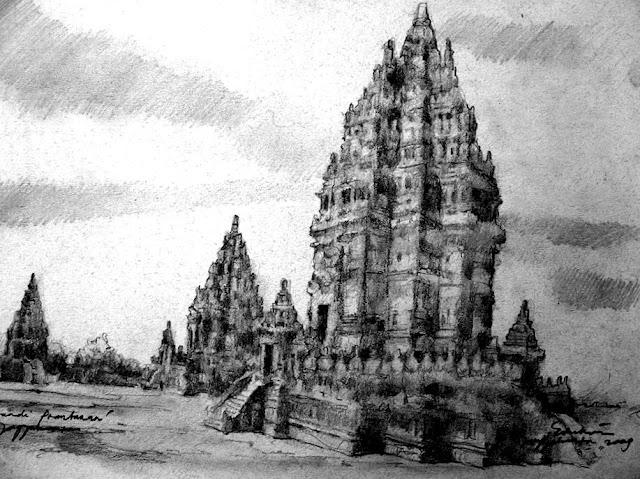 Sketsa Candi Prambanan