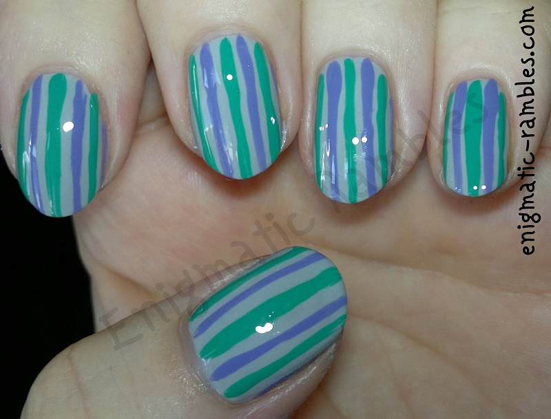 stripes-lines-dotticure-nails-nail-art-sally-hansen-Dorian-gray-elf-teal-blue-mua-frozen-yoghurt
