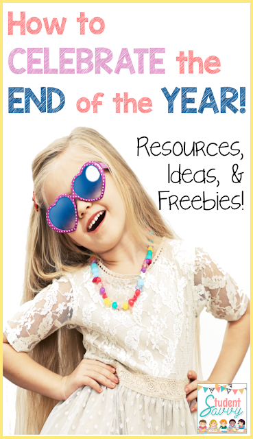 How to Celebrate the End of the Year! End of the Year Freebies / Free Resources / Activities - Perfect ideas for an End of the Year activity or party in the classroom!