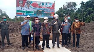 Peletakan Batu Pertama Pembangunan Gedung Perpustakaan Oleh Bupati Batang Hari