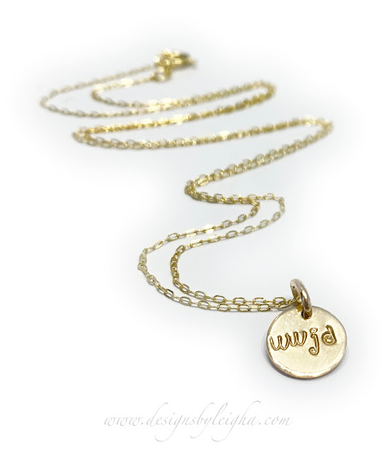 Gold WWJD Charm Necklace