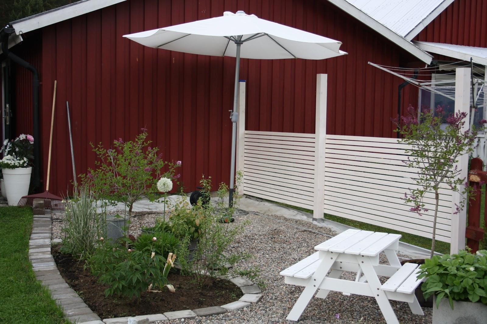 5f9dd5c850d Lantligt i smultronbacken - my home: Vitt liggande staket is it