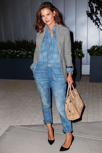 tuta in denim tuta in jeans denim jumpsuit come abbinare la tuta in denim come abbinare la tuta di jeans tendenza denim jumspuit tendenza tuta jeans manica lunga tuta jeans invernale mariafelicia magno fashion blogger colorblock byfelym fashion blogger italiane blog di moda