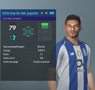 PES 2019 Faces Tiquinho Soares by BMPES