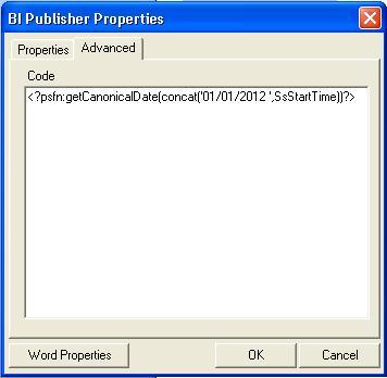 Vishal's blog: Formatting time in BI Publisher