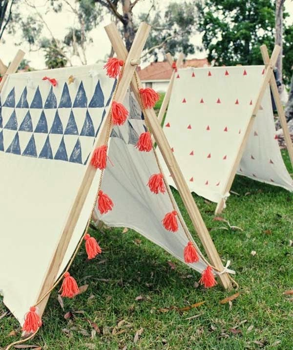 15.) Build some small teepees for backyard fun for the kids. - These 29 Do-It-Yourself Backyard Ideas For Summer Are Totally Awesome. Definitely Doing #10!