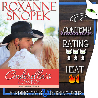 3 stars-- Cinderella's Cowboy (This Old House #4) by Roxanne Snopek