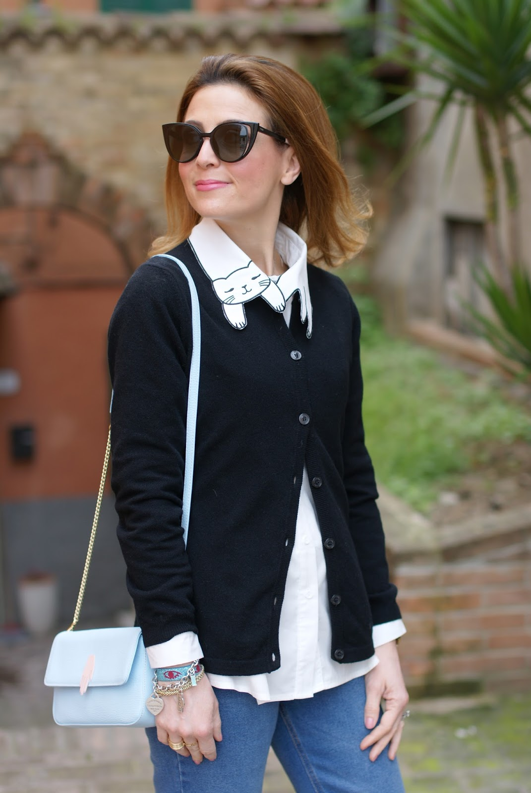 Choies White cat collar shirt, camicia colletto gatto on Fashion and Cookies fashion blog, fashion blogger style