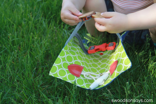toddler buckle toy by Swoodson Says