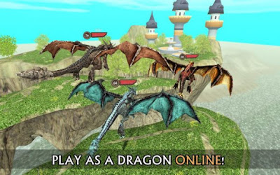 Download Game Dragon Sim Online: Be A Dragon Apk v4.0 (Mod Money/Unlocked) Update Terbaru 2016