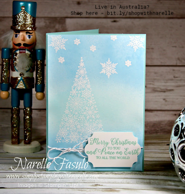 Dreaming of a white Christmas? Make perfect cards using our Snowflake Showcase products and white embossing. See our complete range of products here - http://bit.ly/shopwithnarelle