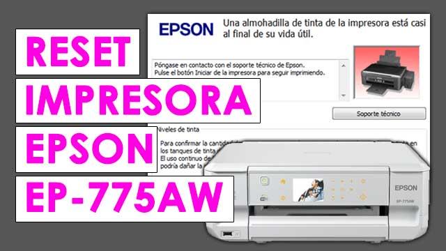 resetear almohadillas impresora Epson EP775AW
