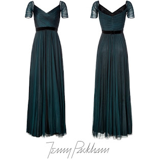 JIMMY CHOO Cosmic Pumps -  JENNY PACKHAM Silk Gown