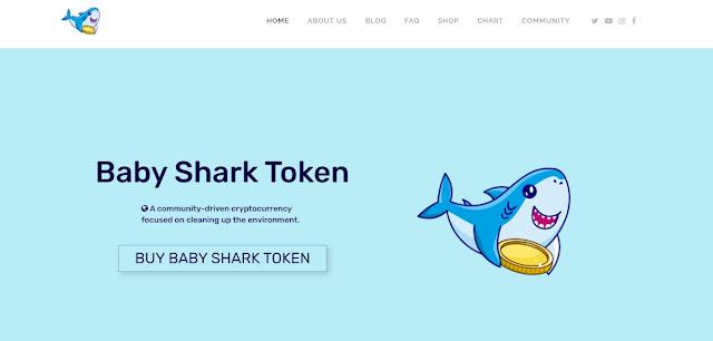 Screenshot Halaman Website Baby Shark Token