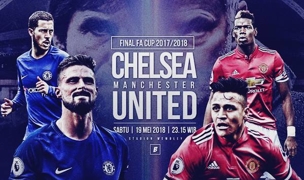 Jadwal Live Streaming Ulang Video Final Chelsea vs Manchester United di Piala FA Cup 2017/2018