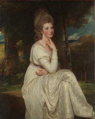Elizabeth Stanley (née Hamilton), Countess of Derby  by George Romney (1776-8)  DP162156 from Metropolitan Museum of Art