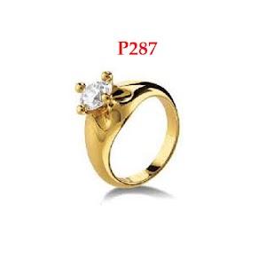 cincin emas rhodium P287