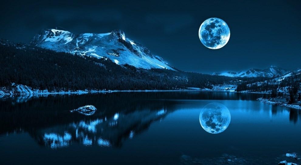 Background Pemandangan Malam Hari