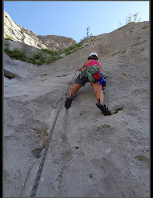 Escalando la vía Valle de Canfranc al Tobazo