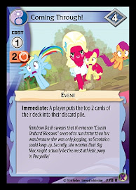 My Little Pony Coming Through! Marks in Time CCG Card