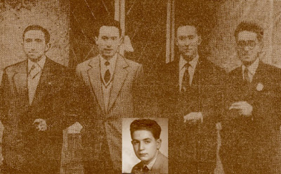 Los componentes del equipo de ajedrez del Terrassa en el Campeonato de Europa Occidental por equipos 1954