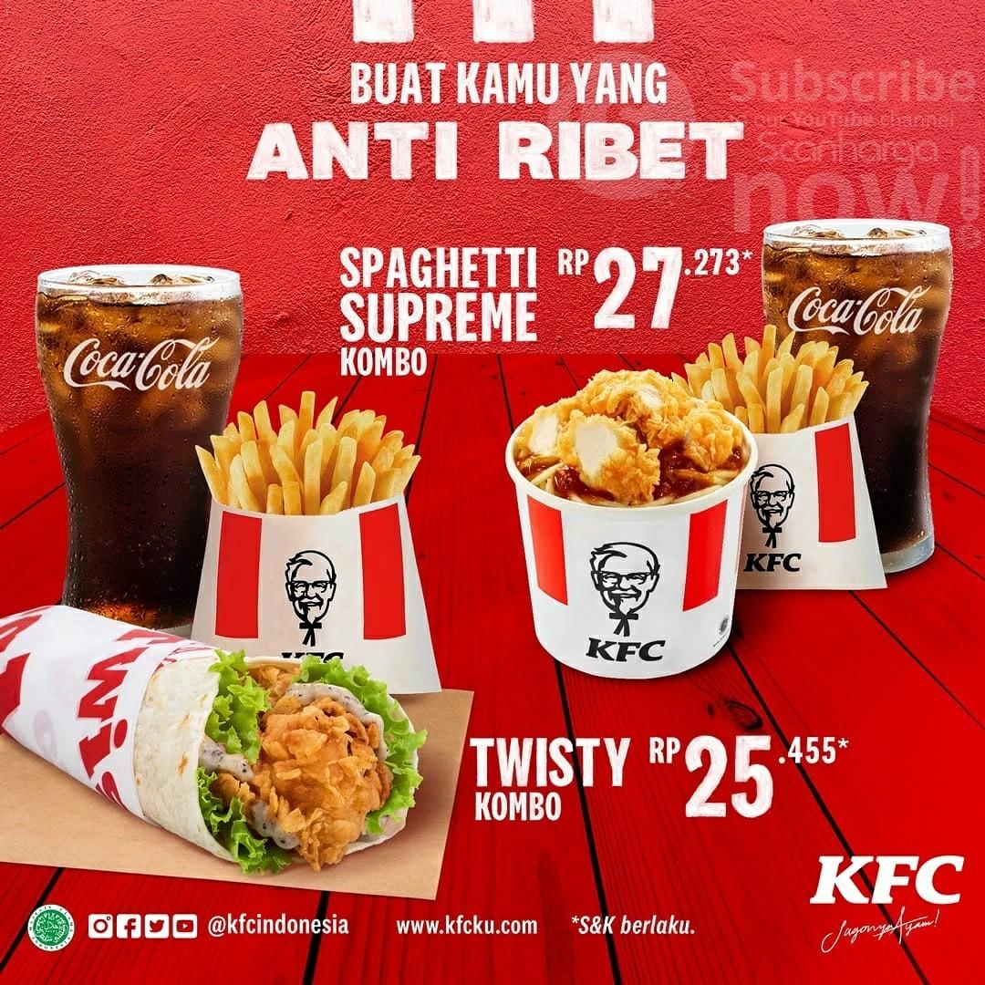 Promo KFC NEW COMBO! Spaghetti Supreme (Twisty Kombo) harga mulai Rp.25.455*