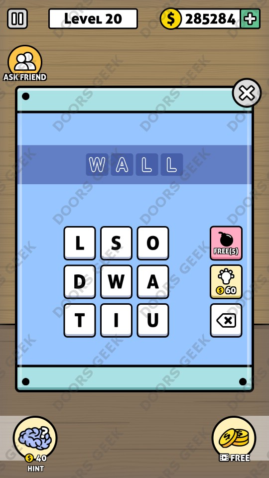 Escape game 50 rooms 1 level 20