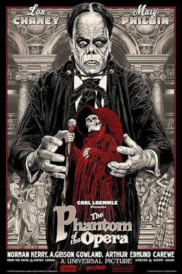 The Phantom of the Opera Movie Poster Screen Print by Chris Weston x Vice Press x Bottleneck Gallery