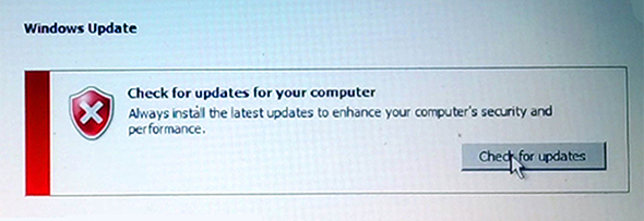 Start updating windows 7 to windows 10,Check for updates,windows 7 update box showing windows update box written check for updates for your computer and mouse pointer kept on check for updates box,